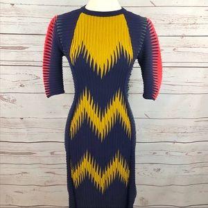 Missoni Italy Zig Zag Sweater Sheath Dress